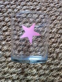 Glas Ster roze, Twenty Violets per 4 stuks.