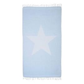 Hamamdoek XL lichtblauw met ster