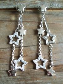 Oorbellen met sterren, lang.