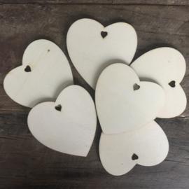 Label houten hart, large per 20 stuks.