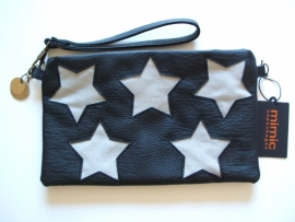 SALE. Clutch Mimic Copenhagen met canvas Sterren.