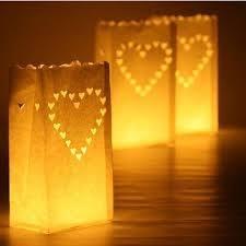 Candlebag lights, Hart.