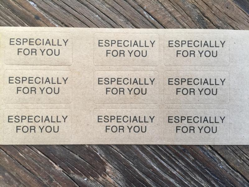 Sticker ESPECIALLY FOR YOU, per 35 stuks