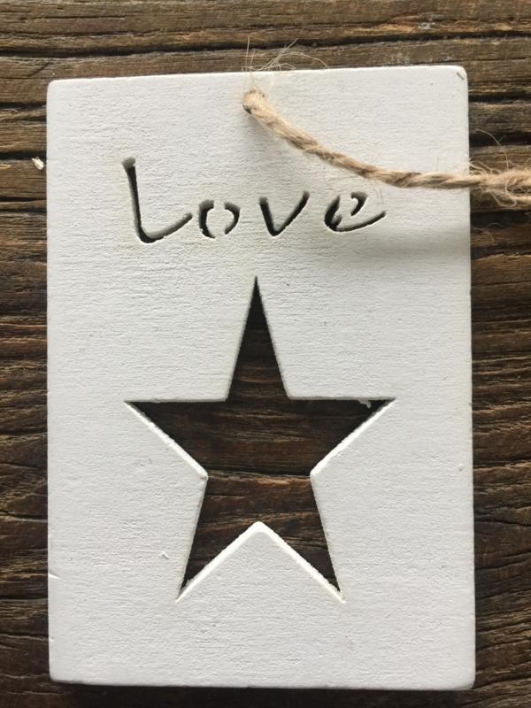 Houten label Love, 5 stuks