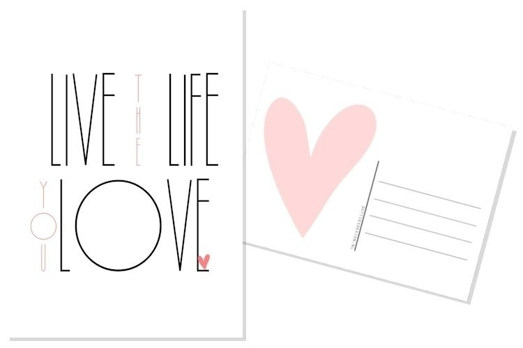 Quote kaart Love the life....