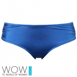 1 WOW blauwe bikinislip  38