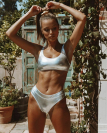 bandeau bikini zilver 34-36