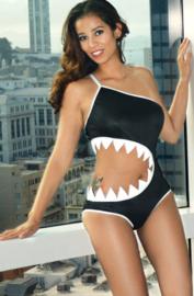 Sharkini monokini zwart XL Shark Bite Haai
