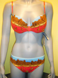 Rebecca swimwear bikini XL 42 rood-blauw