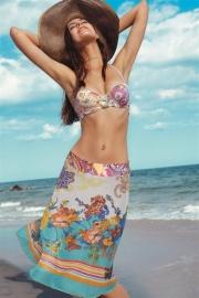 Ellipse Bikini Paisley-Paradise strapless top 85B