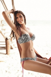 Ellipse Bikini ZEBRA strapless top  80C 85B 85C 85D 70C