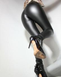 sexy rubber-look legging met ritssluiting XL