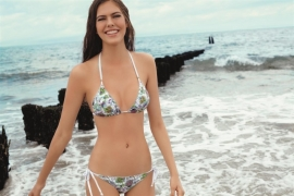 Ellipse Bikini Silver-Sands triangle top wit/zilver  36 38
