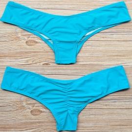 Scrunch bikinibroekje cheeky blauw S 32 34