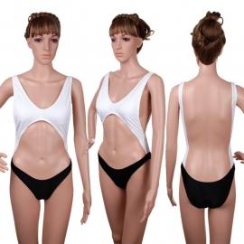 Bikinifun monokini zwart / wit M 34/36