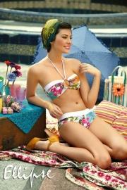 Ellipse Bikini bloemen heupslip  34 36 38 40 42