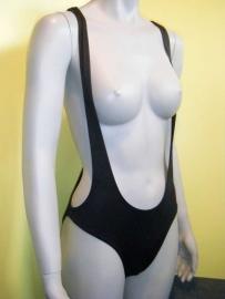 body topless badpak zwart bretels