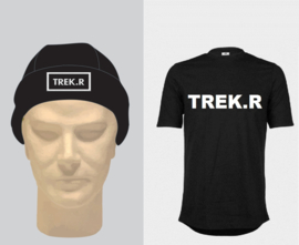 """""""pretpakket"""" muts en shirt TREK.R  5 euro korting"""