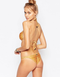 Mia Marcelle Orange Waves Bikinistring  maat L 38