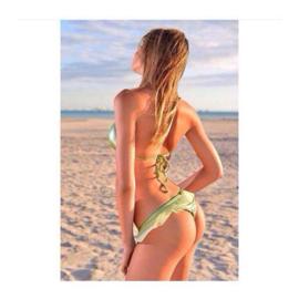 F**K triangle bikini groen M 36