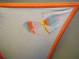 Calvin Klein string T-back oranje wit L