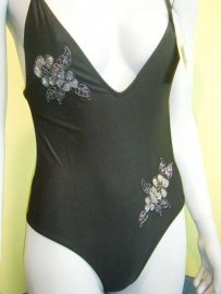 Sanselle monokini zwart bloem 34-36-38