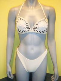 Exclusieve string bikini ecru
