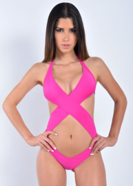 Sun and Sea string monokini Goddess S PINK