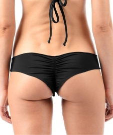 Scrunch cheeky bikini string zwart S 32 / 34