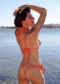 B'Fun string bikini set oranje
