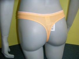 Calvin Klein string oranje met roze rand L