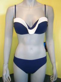 Rebecca swimwear bikini 40C blauw/wit bandeau