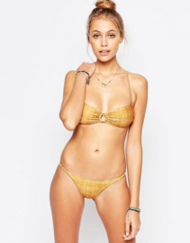Mia Marcelle Orange Waves string Bikini maat S