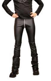 sexy leder-look heren legging met ritssluiting XL