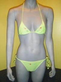 strik bikini groen Maat 12