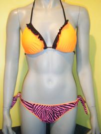 F**K triangle bikini zebra oranje L 38