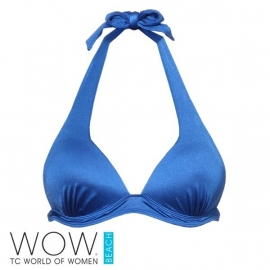 1 WOW blauwe push-up bikinitop  40D cup