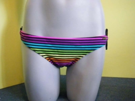 Shiwi multicolor gestreept bikini slip 40