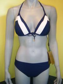 Rebecca swimwear bikini 40C Blauw - wit