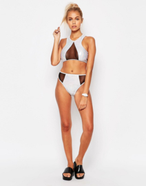 Jaded London High Neck Contrast Bikini 40