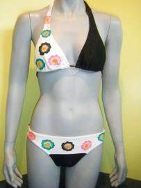 Allamar bikini 1466 zwart-wit 36B