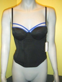 SAPPH FORTUNY bustier Black/Blue 70B 70C of 75B