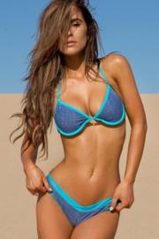 Sheridyn Fisher Denim Bikini Blauw 38 M