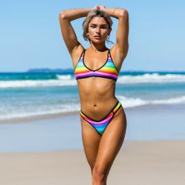 499 Wicked Weasel bikini set brazilian rainbow M/S
