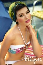 Ellipse Bikini bloemen bandeau top 34 36 38 40