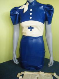 jurk latex rubber zuster verpleegster