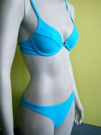 beugel bikini blauw maat 36