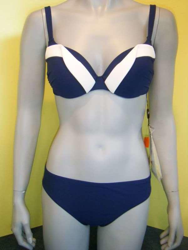 Rebecca swimwear bikini 40C blauw/wit