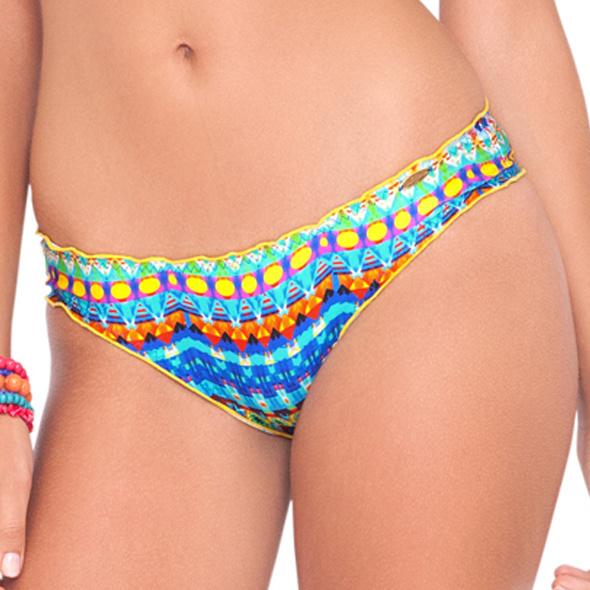LuliFama Luli Fama Full ruched back bikini slip Small
