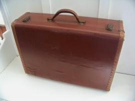 Houten koffer, bekleed